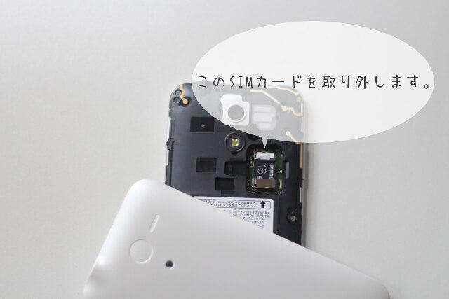 モバイル裏面SIMカードむき出し画像