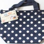 ダイソー 100円(税別)の保冷トートバッグが小ぶりで便利。