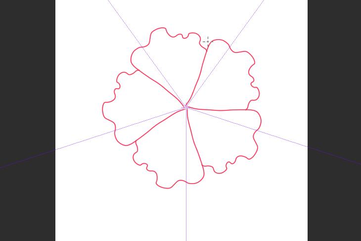 クリスタ ハイビスカスの花の描き方画面画像